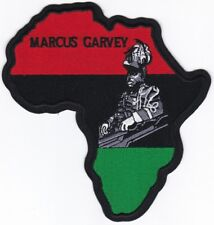 "RASTA Marcus Garvey in Africa Map Embroidered Patch 6""x5.75"""