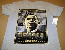 President Barack Obama 2012 Tee Shirt (XL) Gray