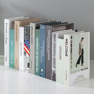 Modern Decorative Book Desktop Club Hotel Room Study Soft Storage Box Fake Books