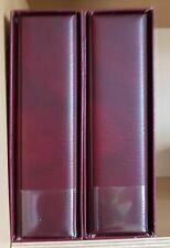 2x Multi Collect Set rot mit Schuber Kassette 245 x 270 x 70 + 81x Lindner Blatt
