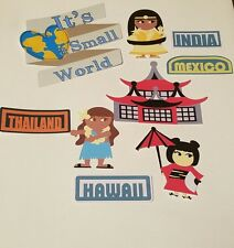 Disney's It's a small  World  printed scrapbook page die cut  #3