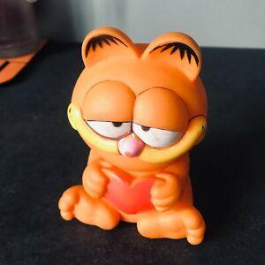 Jouet Ancien Rare Pouet Pouet Figurine Chat Garfield Collection H 13 Cm