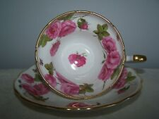 FOLEY SIGNED PAUL GRANET CENTURY ROSE ENGLISH BONE CHINA CUP AND SAUCER