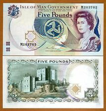 Isle of Man, 5 pounds, ND (1983 issue), 2015 sig. Pick 41 (41c),  QEII, UNC