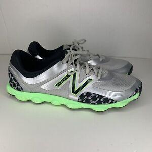 New Balance Minimus Mens Spikeless Golf Shoes Size 11.5 D Silver NBG1001