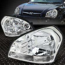 For 05-09 Tucscon Chrome Housing Clear Corner Headlight Replacement Head Lamps