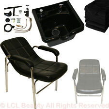 Black Abs Polymer Shampoo Bowl Sink Comfort Curve Chair Beauty Salon Equipment