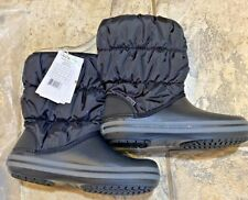 CROCS NEW Winter Puff  Boots - Women's size 6 Relaxed Fit Black/Charcoal - NWT