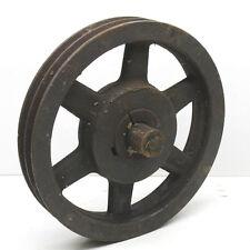 "Vintage Antique Industrial Heavy Machine Pulley 11"" Diameter Browning Steampunk"