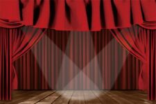 7x5Ft Red Curtain Stage Event Photography Backdrop Vinyl Photo Background Props
