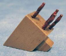 Dolls House Miniatura Ceppo per coltelli-Accessorio da cucina - 1:12