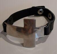 Large Silver Cross Bracelet