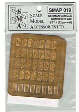 S.M.A SCALE MODEL ACCESSORIES SMAP019 - GERMAN NUMBER PLATES - 1/35 PHOTOETCHED