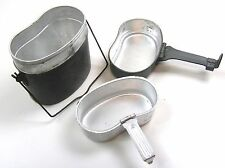DDR EAST GERMAN ARMY OUTDOOR COOKSET COOK SET MESS TINS 1970s/80s