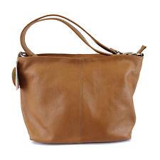 Lorella Luxury Italian Leather Ladies Handbags -  Cognac Bucket Handbag