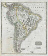 """South America"". New Granada & Peru Viceroyalties. Tucuman. THOMSON 1830 map"