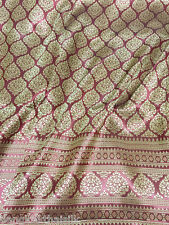 Burgundy Red Gold Thai Silk Damask Fabric BTY WEDDING DRESS SKIRT TABLECLOTH