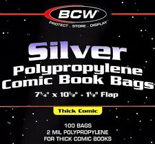800 Silver Comic THICK Bags and Boards BCW Archival Book Storage