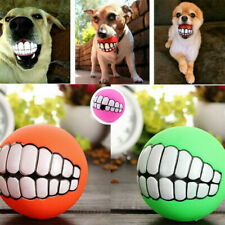 Pet Dog Ball Toy Chew Squeaker Squeaky Sound Dogs Play Toy Teeth Funny Silicon