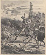 B7200 Pillards et leur butin arrivèrent à la sortie de la Ville 1891 xilografia