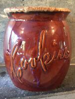 Vintage Hull Brown Drip Cookie Jar ~ NO LID ~ AS IS ~ SIGNED ~ USA 60s 70s
