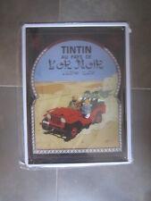 CHAPA METAL TINTIN - TINTIN EN EL PAIS DEL ORO NEGRO- 40 x 30 CM