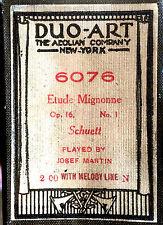 DUO-ART Schuett ETUDE MIGNONNE Op.16, No.1 Josef Martin 6076 Player Piano Roll