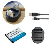 2x Battery EN-EL19 +USB Charger for Nikon COOLPIX A100, A300, W100, S33, S7000