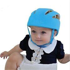 Nouveau bébé tout-petit réglable!! Casque Sécurité Protection Tête Chapeau Bleu