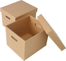 Cardboard Archive Boxes with Base & Lid 368x280x254mm 10 per pack