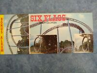 GA Atlanta MINT SIX FLAGS OVER GEORGIA Roller Coaster 1970s VINTAGE 3.5x8.25