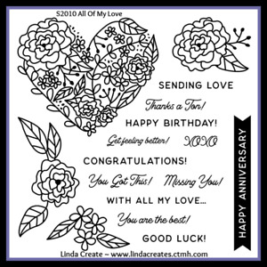 Close To My Heart With All My Love Stamp Set