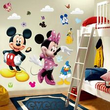 Mickey Mouse Minnie Vinyl Mural Wall Sticker Decals Kids Nursery Home Decor an