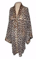 Robe, Victoria's Secret, vintage 1990s, Leopard Plush-Faux-Fur M