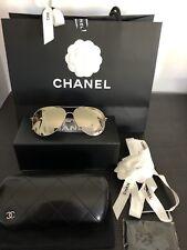 Chanel CH4189TQ C3956G Mirror Pale Gold Aviator Sunglasses BNIB ❤️