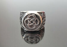 Ouroboros 925 Sterling Silver Ring Viking Celtic Unique Norse Urnes Ornament Tal
