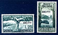 Francobolli della Repubblica italiana dal 1949 al 1955 sul alberi
