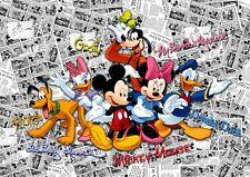 Disney Mickey Mouse bedroom Wallpaper Children's photo wall mural white comics