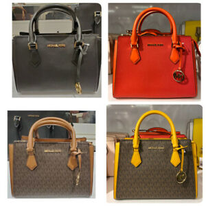Michael Kors Hope Saffiano Leather Medium Satchel Messenger Crossbody Bag