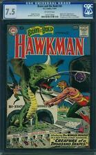 Brave and the Bold #34 CGC 7.5 DC 1961 1st Hawkman! Hawkgirl Silver Age! F7 cm