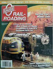 O Gauge Railroading Review Munoz Lines Bachmann On30 Oct/Nov 2014 FREE SHIPPING!