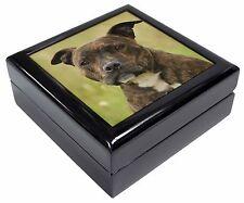 Staffordshire Bull Terrier Dog Keepsake/Jewellery Box Christmas Gift, AD-SBT15JB