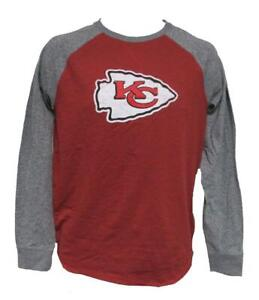 New Kansas City Chiefs Mens Size S Small Red Majestic Long Sleeve Shirt