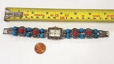 Appear Beaded Bangle Bracelet Girls Woman Silvertone + Multicolor beads