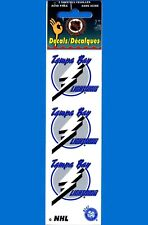 Tampa Bay Lightning Decals Three packs (18 decals total)