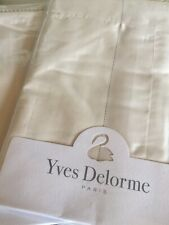 Yves Delorme ANTIC SATIN Pair of EURO Pillowcases LUXURY