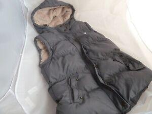Primark Denim & CoLadies Grey Faux Fur Gilet Body Warmer Size 10