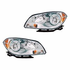 Fits 08-12 Chevrolet Malibu Driver Passenger Side Headlight Lamp Assembly 1 Pair