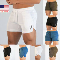 Men's Shorts Gym Jogging Running Training Sports Wear Boxer Beach Short Pants