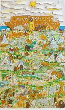 James Rizzi FORTY DAYS  AND FORTY NIGHTS 1990 Hand Signed 3-D Serigraph Pop Art
